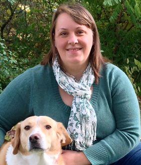 Dr. Heintz and her dog, Mimi