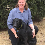 Joanne with her Black Lab mix named Ellie