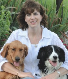Dr. Strickfaden and two dogs